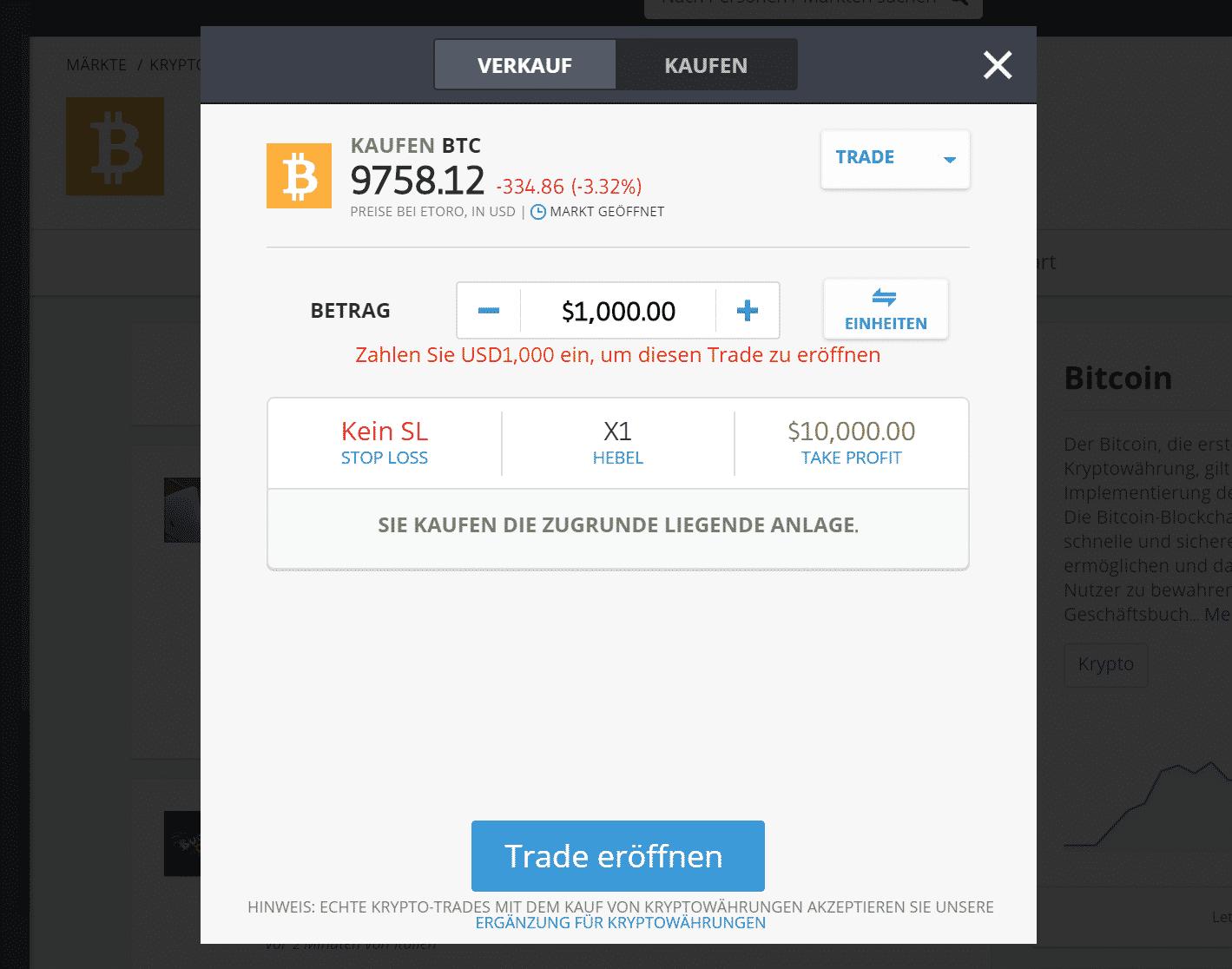 Bitcoin kaufen geht sicher mit eToro