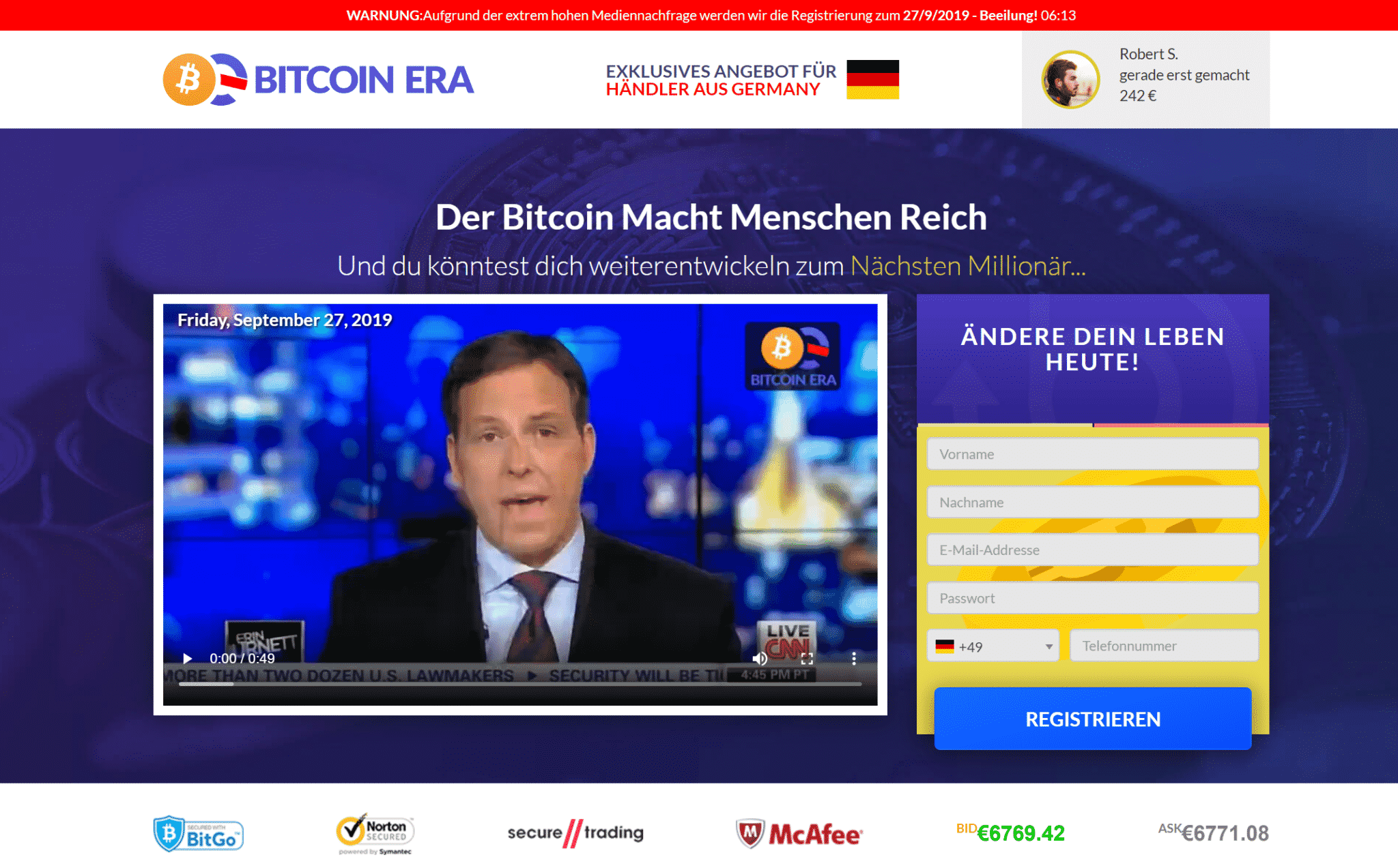 Bitcoin Era im ZDF! Betrug Erfahrungen & Fake mit Lena 2020