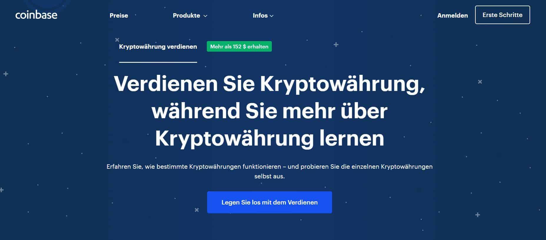 Coinbase Earn Konto