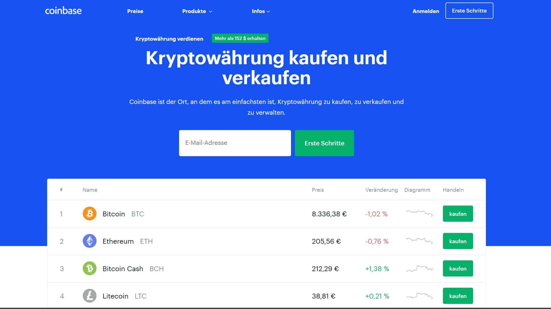 Coinbase Erfahrungen lohnen sich auch ohne eigenes Investment