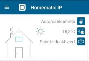 Die App überzeugt im Homematic IP Heizkörperthermostat Test