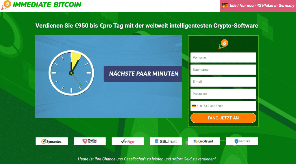 Der Testdude enttarnt den Immediate Bitcoin Betrug