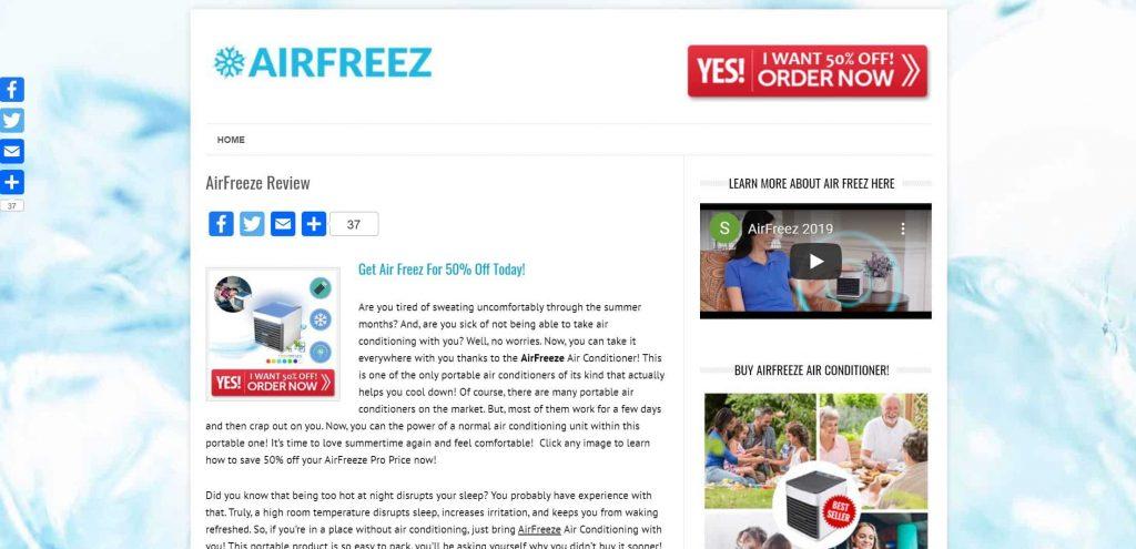 Der Air Freeze Test liefert keine positiven Ergebnisse