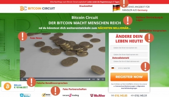 Bitcoin Circuit Betrug im Fake Test 2020